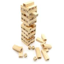 How To Play Tumbling Tower Wooden Block Game useful 100 Hardwood Game Family Board Game 100 Pcs Wooden Stacking 55