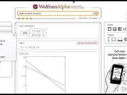 system of equations wolframalpha com