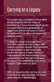 general rudder corps scholarships encourage outstanding students with a high potential for success to mit to learning leadership in the corps