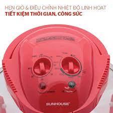 Lò nướng thủy tinh 12 lít Sunhouse SH416 đỏ Hàng chính hãng giá cạnh tranh