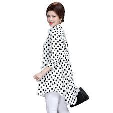 2019 <b>WAEOLSA Mature</b> Women Casual <b>Shirt</b> Black White Polka Dot ...