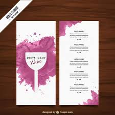 Free Wine List Template Download Wine List Template Vector Free Download