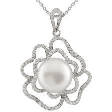 bella pearl fancy sterling silver freshwater pearl pendant item no nsr 261