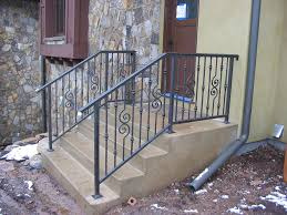 outdoor metal stair railing. Outdoor Staircase With Metal Handrails Stair Railing New Home Design Install N