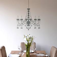 chandelier wall sticker above a dining table