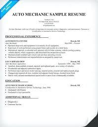 Mechanic Resume Best Auto Mechanic Resume Examples North Road Auto 40 4040
