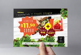 Menu Flyer Template Salad Menu Flyer Template In PSD Ai Vector BrandPacks 19