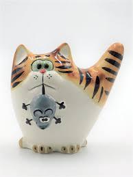 "<b>Фигурка</b>, статуэтка ""<b>Кот</b> с мышью"", мышелов CheriDes 9631122 в ..."