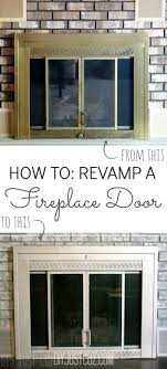 revamp your ugly fireplace door fireplace doors spray painting and fireplaces
