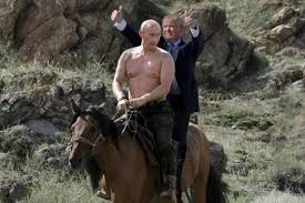 Image result for putin on a horse