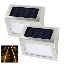 Solar Powered Outdoor Lights For Steps Amazon Com Zuke Waterproof Solar Step Lights 3 Led Solar