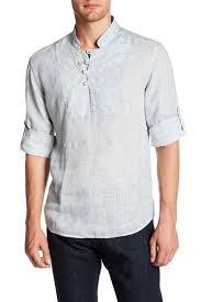 Ron Tomson Henley Linen Shirt Hautelook