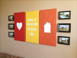 interior: Beautiful Heart Picture On Red Frame Side Home Picture On Orange  Frame Closed Interesting