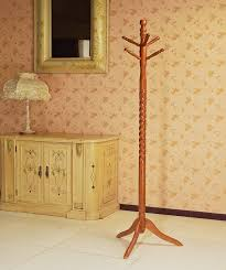 Coat And Hat Rack Stand Amazon Frenchi Furniture Wood CoatHat Rack Stand in Oak Finish 48