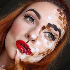 how to do pixel face makeup for