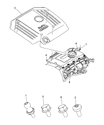 2009 dodge caliber engine cover related parts thumbnail 1