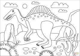 Spinosaurus Dinosaurus Kleurplaat Gratis Kleurplaten Printen Beste