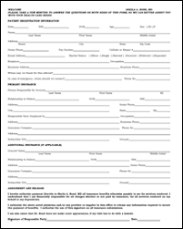 medical patient registration form patient forms bond