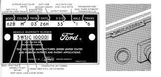 Ford Vin Decoder Chart 1965 Socal Galaxie Club