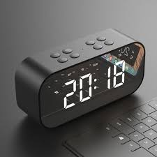 bluetooth portable wireless speaker clock
