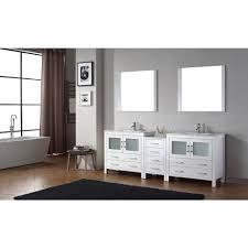 90 Bathroom Vanity Virtu Usa Dior 90 In W X 183 In D Vanity In White With Ceramic