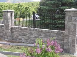 Combining Iron Aluminum Fence with Brick Stone or Wood Pillars and