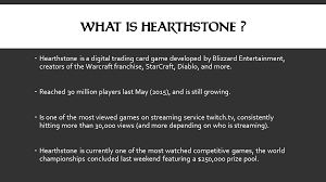 Game Designer Benefits Educational Benefits Of Hearthstone Lecture Presentation