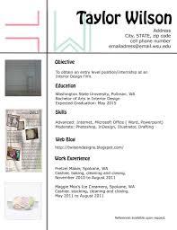 Interior Design Resume Sample Designer Template Creative Arts ...