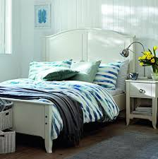bedroom furniture design ideas. Bedroom With A Holly Double Bed And Striped Bedding Furniture Design Ideas I