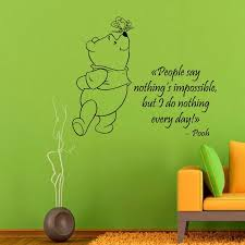 Shop Winnie The Pooh Quotes Children Vinyl Sticker Wall Decor Home Awesome Pooh Quotes