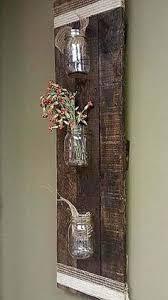 cdef rustic country rustic pallet wood mason jar storage wall hanging rack bathroom home d