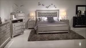 Samuel Lawrence Diva Bedroom Group With Upholstered Headboad & Bling ...