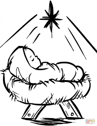 Coloring Pages Coloring Pages Baby Jesus Sheet In Manger Page Free