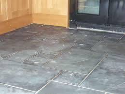 stone floor tiles. Black Slate Tiles With Failed Grout Stone Floor