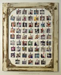 diy insram photo display made from an old screen door you could also use a