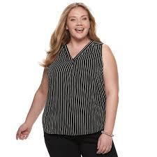 Evri Size Chart Plus Size Evri V Neck Georgette Tank Womens Size 4xl