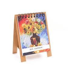 standup desk calendars funcee mini 2019 desk calendar cartoon printed flip stand up desktop paper calendar english calendar