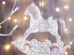 <b>Украшение Crystal Deco</b> Лошадка-качалка 11cm Silver 151090 ...