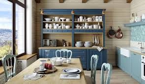 view in gallery farmhouse style dining space and kitchen with a fabulous hutch in blue design kutepov