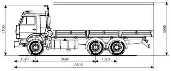 Реферат Тормозная система Камаза На рисунке 1 представлена схема автомобиля КамАЗ 53215 с колесной формулой 6×4 предназначенного для перевозки грузов массой до 10 тонн по дорогам с