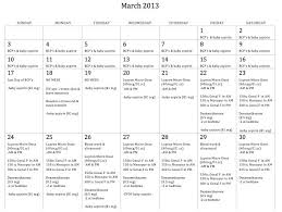 Sample Menstrual Calendar | Nfcnbarroom.com
