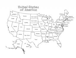 Usa Kids Map Coloring Pages United States Map Fresh Us State Map