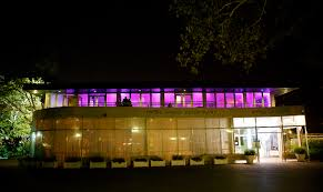 wedding reception with up lights at battery park gardens provided