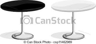 coffee table clipart black and white. black and white coffee shop table - csp11462989 clipart