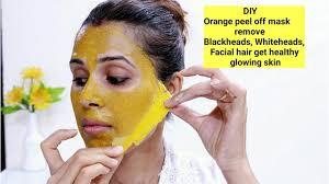 diy orange l off mask remove blackheads whiteheads hair get glowing skin