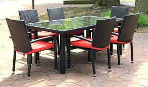 outdoor wicker dining table inspirations chairs and natural appeal rattan creativity