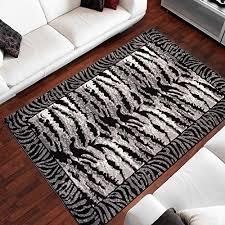 area rugs for living room bedroom black modern zebra pattern size s l 250 x