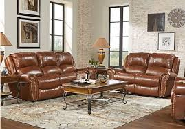 reclining living room furniture sets. Abruzzo Brown 3 Pc Leather Living Room With Reclining Sofa Furniture Sets