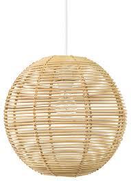 Palau Continuous Weave Wicker Ball Pendant Lamp, Natural tropical-pendant- lighting