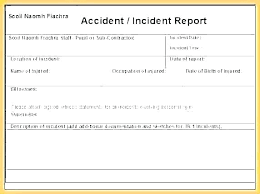 Sample Incident Report Employee Reports Template Business